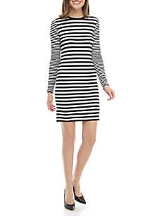 26520f99bf ... MICHAEL Michael Kors Mix Stripe Long Sleeve Dress
