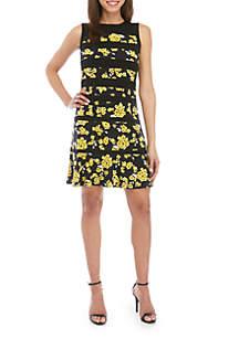MICHAEL Michael Kors Glam Floral Panel Dress