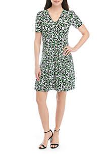 MICHAEL Michael Kors Short Sleeve Empire Dress