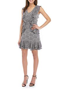 MICHAEL Michael Kors Ruffle Sleeveless Dress