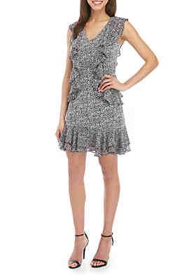 7f6762cb68b7 MICHAEL Michael Kors Ruffle Sleeveless Dress ...