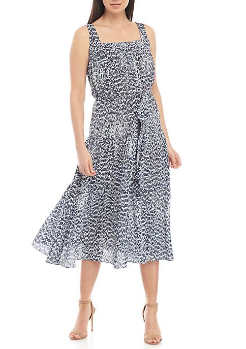 Textured Tier Midi Dress
