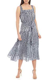 MICHAEL Michael Kors Textured Tier Midi Dress