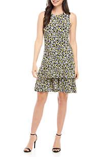 MICHAEL Michael Kors Mini Monarch Sleeveless Flounce Dress