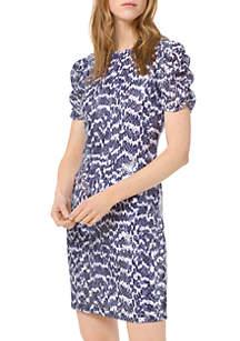 00162d76c70 ... MICHAEL Michael Kors Ruched Sleeve Snake Sequin Dress