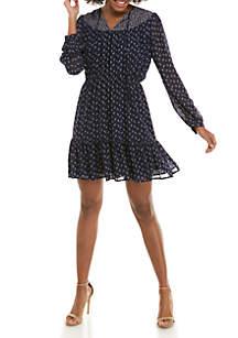 MICHAEL Michael Kors Western Paisley Peasant Dress