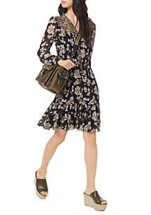 MICHAEL Michael Kors Combo Bib Fleur Dress