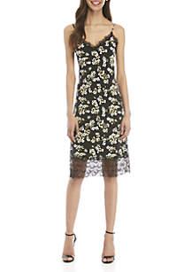 MICHAEL Michael Kors Glam Painterly Slip Dress