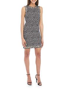 MICHAEL Michael Kors Reptile Grommet Sheath Dress