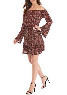 MICHAEL Michael Kors Mini Floral Print Tie Dress