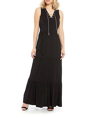 bf4b7caa919 MICHAEL Michael Kors. MICHAEL Michael Kors Chain Lace-Up Maxi Dress