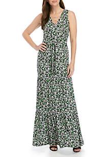 MICHAEL Michael Kors Chain Tie Maxi Dress