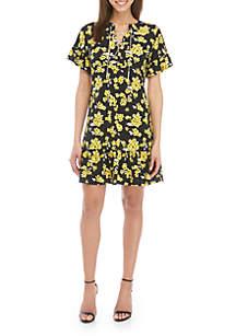 f11e70fd4de ... MICHAEL Michael Kors Chain Lace Up Flounce Dress