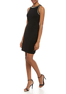 MICHAEL Michael Kors Studded Sleeveless Apron Dress