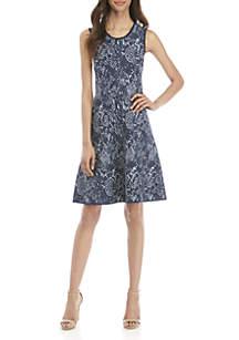 MICHAEL Michael Kors Python Print Sleeveless Fit and Flare Dress