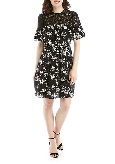 MICHAEL Michael Kors Floral Fit and Flare Dress