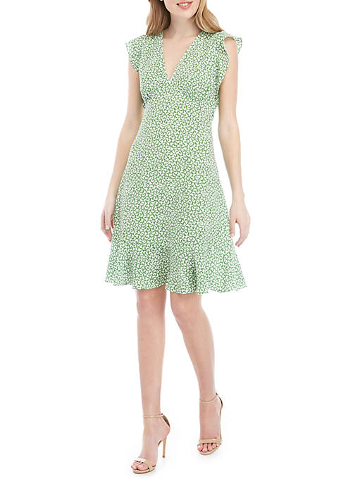 MICHAEL Michael Kors Flutter Sleeve Butterfly Dress