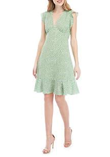 MICHAEL Michael Kors Flutter Sleeve Butterfly Dress