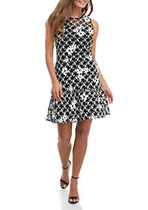 MICHAEL Michael Kors Floral Mesh Embroidered Dress