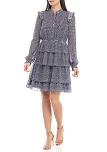 MICHAEL Michael Kors Ruffle Hem Micro Floral Dress