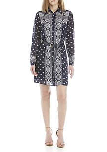 MICHAEL Michael Kors Bandana Shirt Dress