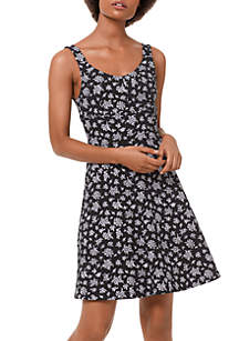 MICHAEL Michael Kors Wildflower Ponte Fit and Flare Dress
