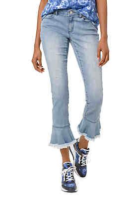 b94d04a71565 MICHAEL Michael Kors Fray Flare Hem Jeans ...