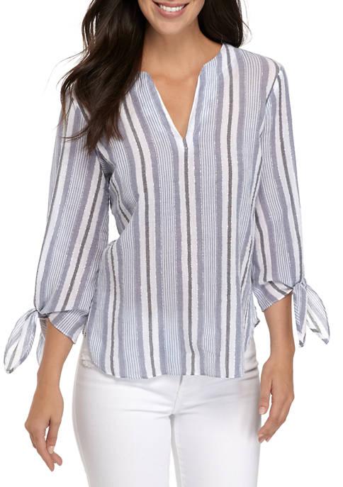 MICHAEL Michael Kors Womens Stripe LUREX® Tie Sleeve