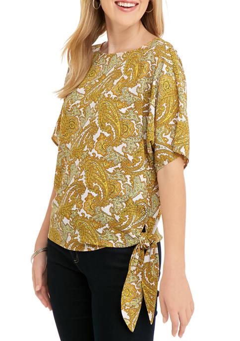 MICHAEL Michael Kors Womens Short Sleeve Paisley Print