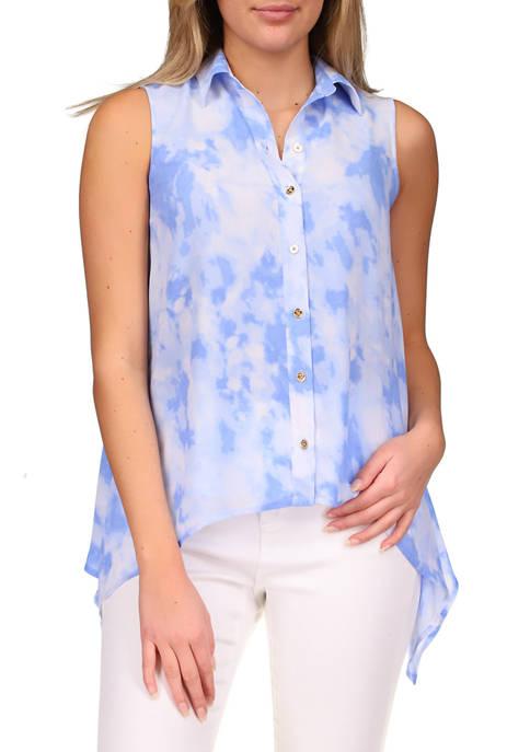 MICHAEL Michael Kors Womens Tie Dye Handkerchief Hem