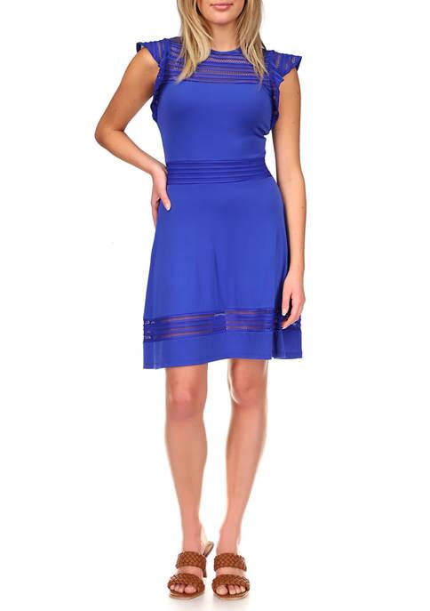 MICHAEL Michael Kors Womens Mesh Combo Dress