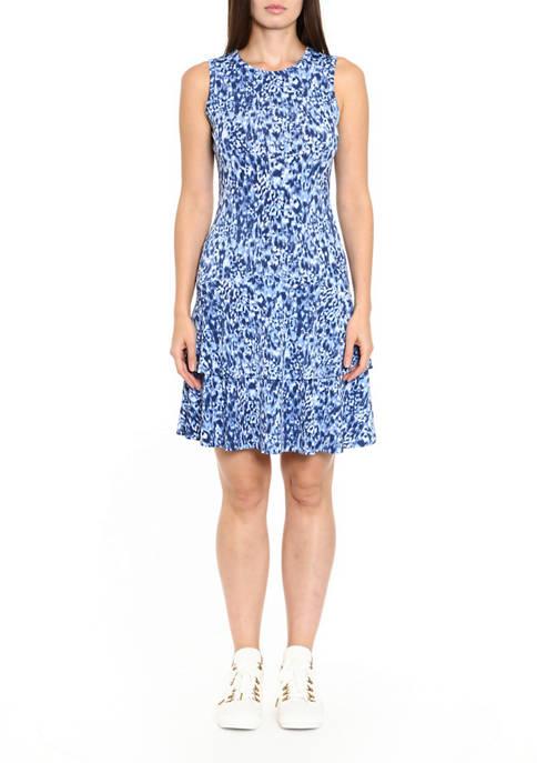MICHAEL Michael Kors Womens Tonal Ikat Sleeveless Dress