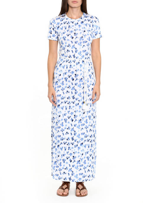 MICHAEL Michael Kors Womens Rope Belt T-Shirt Dress