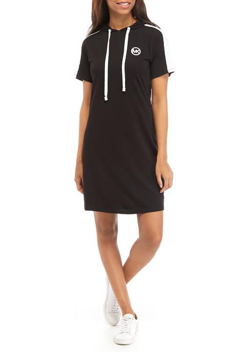 MICHAEL Michael Kors Womens Short Sleeve Hoodie Dress