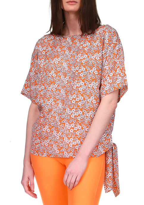 MICHAEL Michael Kors Womens Floral Side Tie Kimono