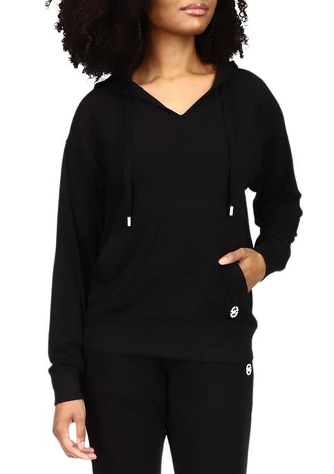 MICHAEL Michael Kors Womens Cozy Logo Hoodie