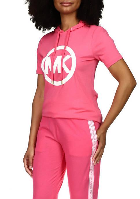 MICHAEL Michael Kors Womens Short Sleeve Zebra Logo