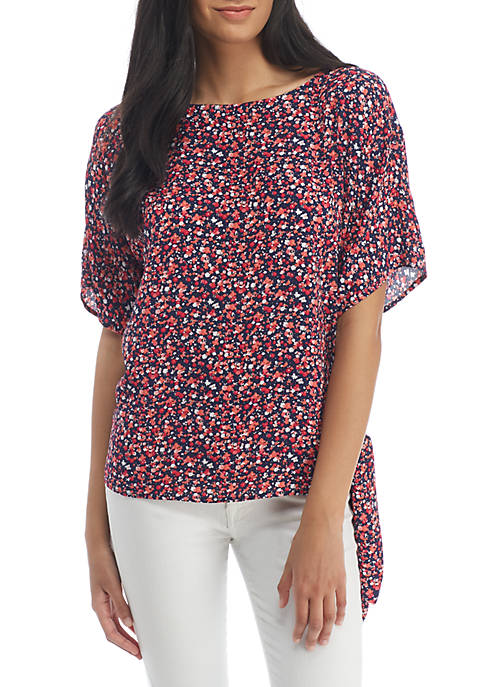 MICHAEL Michael Kors Tiny Wildflower Tie Top