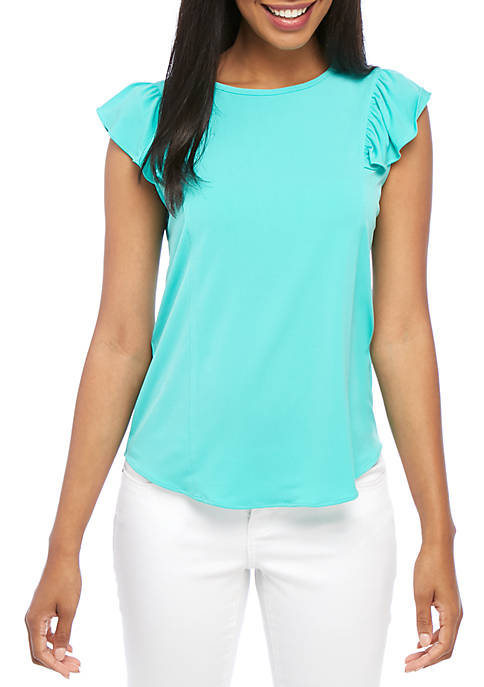 MICHAEL Michael Kors Sleeveless Ruffle Yoke Top