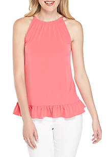 Solid Chain Halter Top