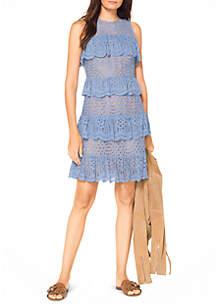 Lace Mix Flounce Dress