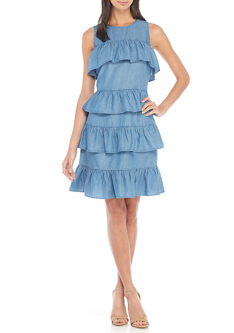 MICHAEL Michael Kors Flounce Dress