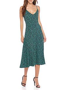 Graphic Leopard Midi Tank Dress