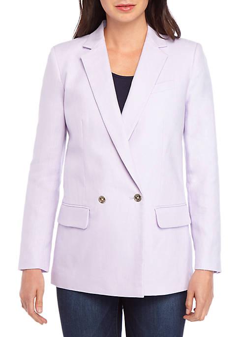 MICHAEL Michael Kors Notch Collar Linen Blazer