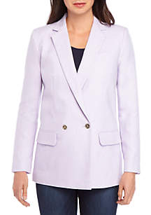 MICHAEL Michael Kors Notch Collar Linen Blazer