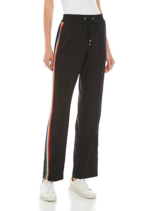 MICHAEL Michael Kors Rainbow Side Stripe Joggers