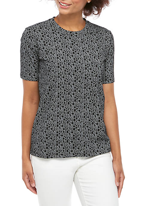 MICHAEL Michael Kors Logo Outline T Shirt