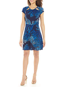 MICHAEL Michael Kors Coral Fit and Flare Dress
