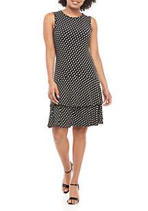 MICHAEL Michael Kors Slice Dot Sleeveless Flounce Dress