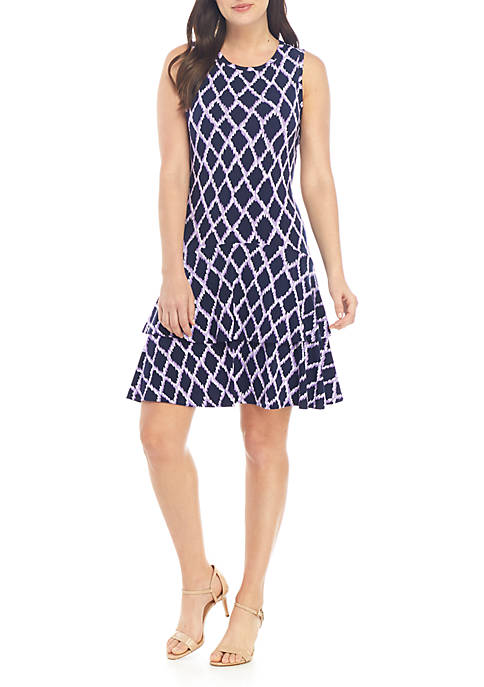 MICHAEL Michael Kors Diamond Ikat A Line Dress